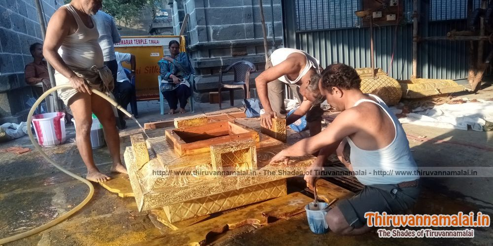 thanga ratham renovation work tiruvannamalai temple